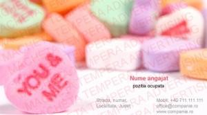 carti de vizita producator dulciuri